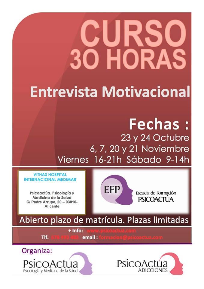 Curso De 30 Horas Sobre Entrevista Motivacional
